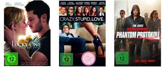 Filmschnäppchen bei Müller und Konter von Amazon - z.B. 4 Blu-rays für 30 € oder 4 DVDs für 24 €