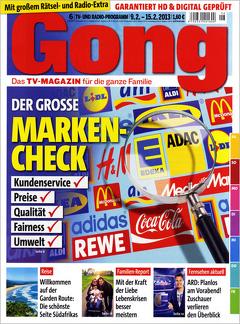"""Fernsehzeitschrift """"Gong"""" 13 Monate lang für effektiv 1,20 €"""