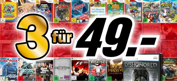 Super! 3 Spiele für 49 € bei Media Markt und Konter von Amazon! *Update*