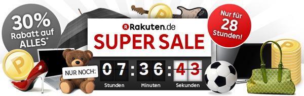Rakuten Super Sale - 30-fache Punkte für jeden Einkauf - z.B. Samsung Galaxy S3 ab effektiv 268 €
