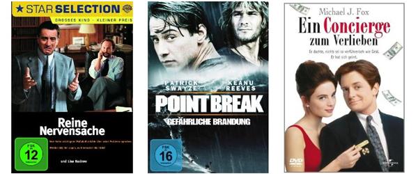 Filmangebote bei Amazon - z.B. 2 Blu-rays für 14 € oder 6 DVDs für 20 €