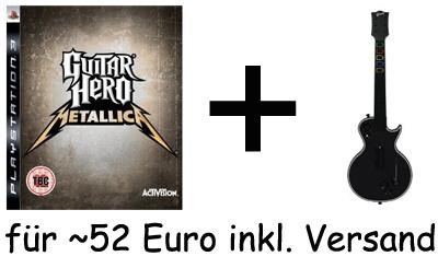 World Tour Gitarre zum Guitar Hero: Metallica (X360 + PS3) geschenkt