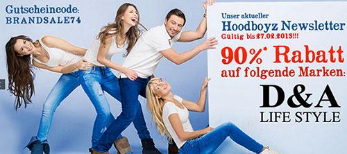 """Hoodboyz - wieder 90% Rabatt auf """"D&A Life Style"""""""