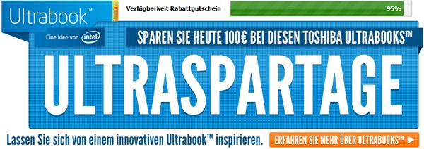 Ultraspartage bei Notebooksbilliger: 100 € Rabatt auf ausgewählte Ultrabooks