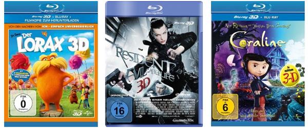 Filmangebote bei Amazon - z.B. 2 TV-Serien-Staffeln für 20 € oder 3D Blu-rays ab 5,97 €
