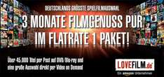 3 Monate Lovefilm Flatrate 1 Paket für 9,99 € bei Amazon