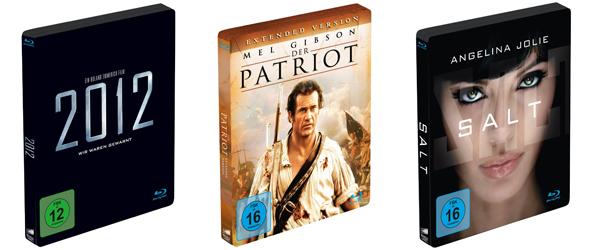 Amazon: ausgewählte Limited Steelbook Blu-rays für 9,97 € - z.B. Salt oder Wer ist Hanna?