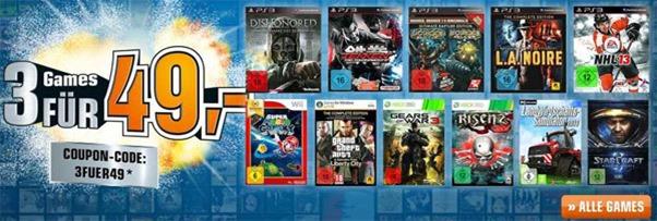 Multibuy-Aktion: 3 Spiele für 49 € kaufen bei Saturn Deutschland *Update* jetzt auch bei Amazon!