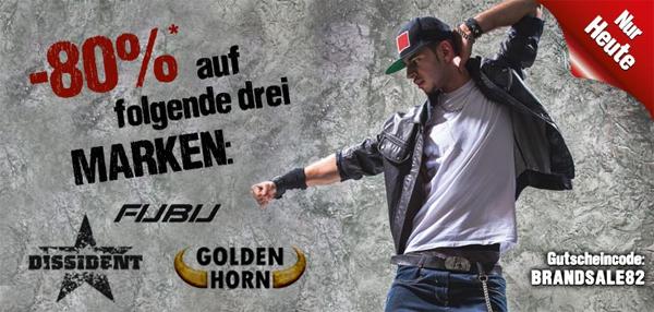 80% Rabatt auf die Marken Fubu, Dissident und Golden Horn bei Hoodboyz