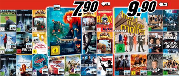Media Markt vs. Amazon: DVDs ab 4,90 €, Serien-Staffeln ab 9,90 € und Blu-rays ab 8,90 €