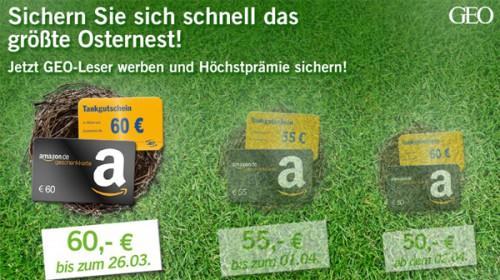Gruner + Jahr: Jahresabo der GEO für effektiv 15,60 € - 79% sparen