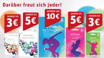 20% Rabatt auf iTunes Guthaben bei Rewe *Update* jetzt wieder 25 € Wertguthaben für 20 €!