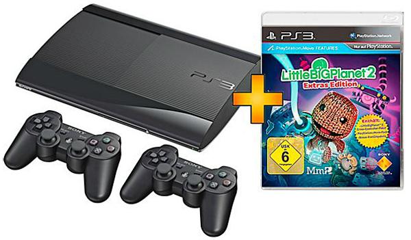 PS3 SuperSlim (12 GB) + 2 DualShock-Controller + Little Big Planet 2 für 199 € *Update* jetzt auch bei Amazon!