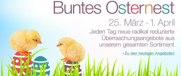 Amazon Osternest-Aktion - täglich neue Angebote - z.B. 6 Monate Lovefilm Flatrate 1 Paket für 18,99 €