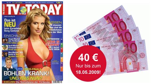 TV Today Jahresabo für nur 2,90€