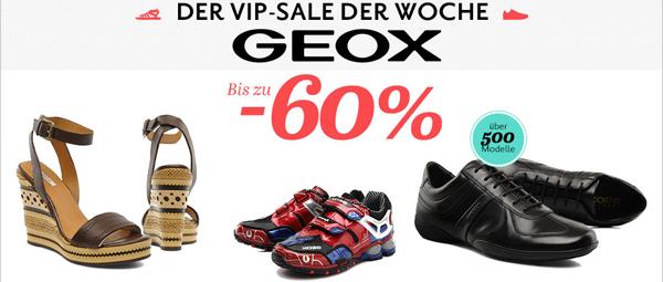 Geox VIP-Sale mit bis zu 60% Rabatt bei Sarenza