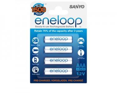 8x Sanyo Eneloop AAA Akkus für 11,66 Euro - sehr gute wiederaufladbare Batterien