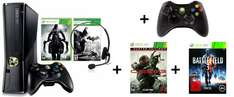 Xbox 360 (250 GB) + 2 Controller + Darksiders 2, Batman Arkham City, Crysis 3 & Battlefield 3 für 241 €