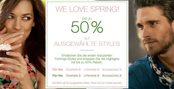 Tom Tailor: Sale mit bis zu 50% Rabatt auf ausgewählte Frühjahrs-Mode