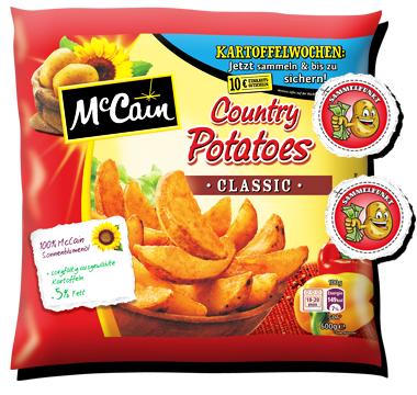 McCain Kartoffelwochen: Aktionspackungen kaufen und bis zu 10€ Einkaufsgutschein erhalten