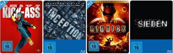 Amazon: Verschiedene Steelbooks für je 9,97 € z.B. Kick-Ass, Inception, Riddick, Sieben u.v.m.