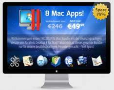 StackSocial Mac Bundle - 8 Mac Apps für 49,99 € - z.B. Parallels Desktop 8