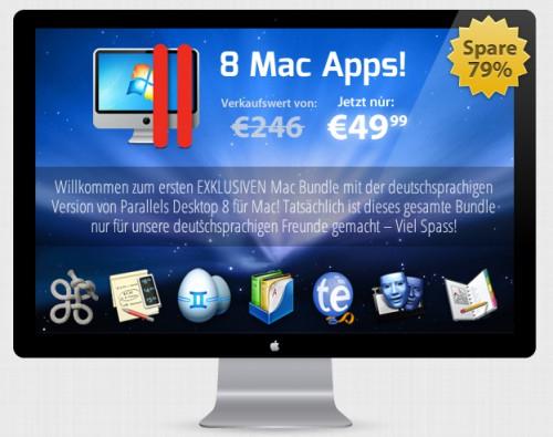 StackSocial Mac Bundle - 8 Mac Apps für 49,99 € - z.B. Parallels Desktop 8