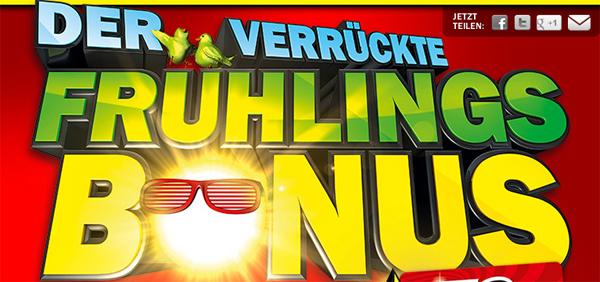 Der verrückte Frühlingsbonus - neue Geschenkkarten-Aktion bei Media Markt mit bis zu 200 € Rabatt