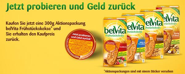 Kraft Foods: belVita Frühstückskekse komplett kostenlos durch Cashback