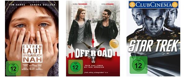 Sehr gute Filmangebote bei Amazon - z.B. 3 Blu-rays für 24 € oder 4 DVDs für 20 €