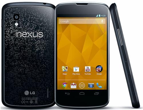 Android-Smartphone Google Nexus 4 um 333 € *Update* jetzt für nur 305,90 €!