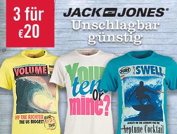 MandMDirect: 3 T-Shirts von Jack & Jones für zusammen 19,98 €