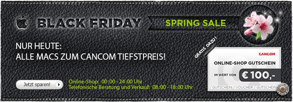 Cancom Black Friday Spring Sale mit guten Mac-Angeboten und 100 € Gutschein