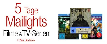 5 Tage Mailights bei Amazon - Filme & TV-Serien im Preis reduziert - z.B. 3 Blu-rays für 21 €