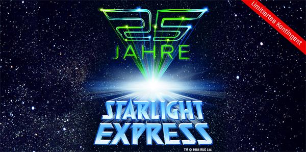 25 Jahre Starlight Express: günstige Tickets zur Jubiläumsshow mit Sonderprogramm bei vente-privee