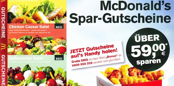 Neue Spar-Gutscheine für McDonald's Österreich – vom 03. bis 30. Juni 2013 gültig