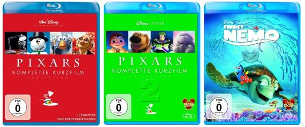 Amazon: Pixar Kurzfilm Collection und Findet Nemo auf Blu-ray für je 10,99 €