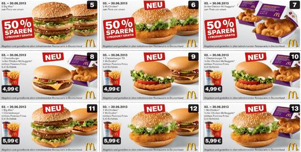 Neues Gutscheinheft für McDonald's Deutschland - vom 03. bis 30. Juni gültig