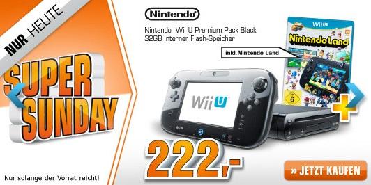 Wow! Nintendo Wii U Premium 32GB für nur 222 Euro statt 292 Euro bei Saturn.de! *Update* Jetzt bei Media Markt
