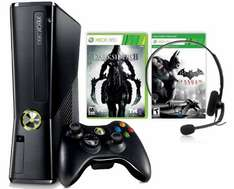 Microsoft Xbox 360 S (250 GB) + Darksiders II + Batman: Arkham City für 169 € - 15% sparen