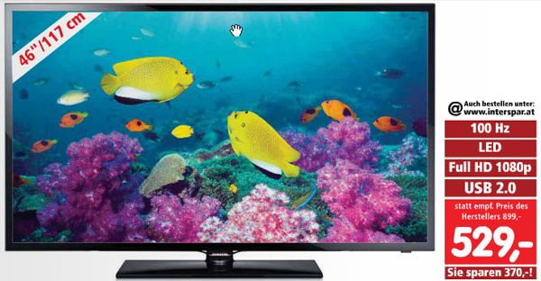 LED-Backlight-TV Samsung UE46F5000 (Dual-Tuner, Full HD) ab Donnerstag für 529 € - 18% sparen