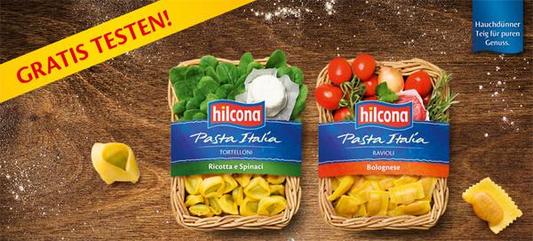 100% Cashback: Hilcona Pasta Italia komplett kostenlos testen