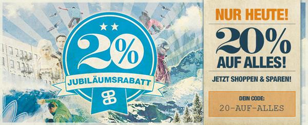 Planet Sports: 20% Rabatt auf das gesamte Sortiment - auch auf Artikel aus dem Bench-Sale