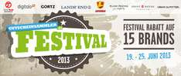 Festival-Woche bei Gutscheinsammler: exklusive Rabatte in 15 Online-Shops