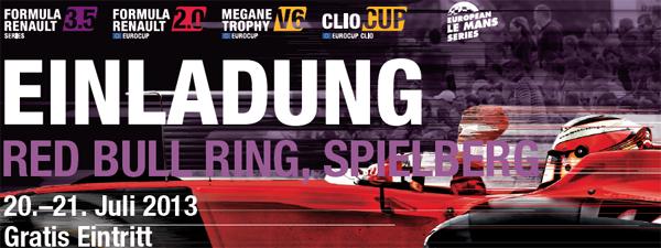 """Kostenloser Eintritt zur """"World Series by Renault"""" am Red Bull Ring in Spielberg"""