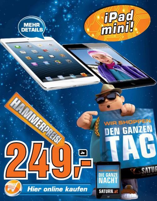 iPad mini 16GB für 249 Euro statt 293 Euro bei Saturn (online + offline)!