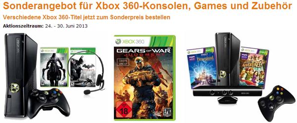 Amazon: Sonderangebote für Xbox 360-Konsolen, Games & Zubehör