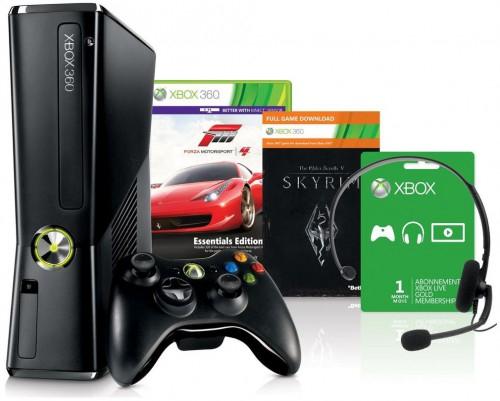 Deal für Grenzgänger: Xbox 360 (250 GB) + Forza 4 und Skyrim Bundle für 149 CHF (121,57 €)