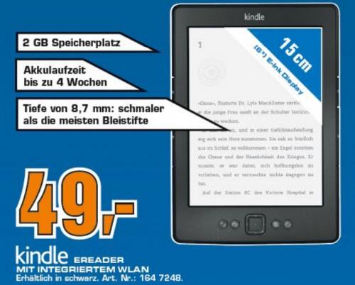 Top! Amazon Kindle 4 (WLAN) für 49 € bei Saturn Deutschland - 29% sparen