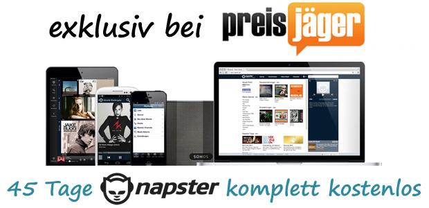 Exklusiv! Napster Unlimited (Musik-Flatrate mit Mobil-Zugriff) 45 Tage komplett kostenlos nutzen